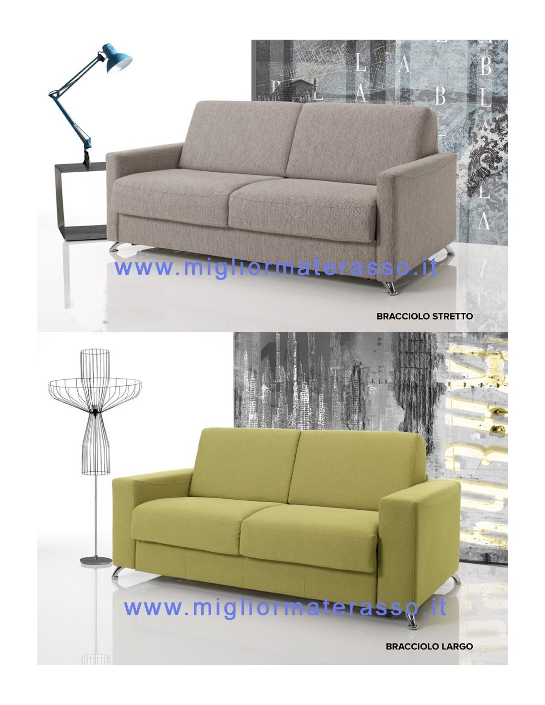 Materasso comodo alto 17 cm dentro un divano letto matrimoniale design - Divano letto design ...