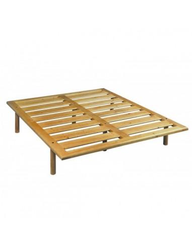 Rete in legno massello anche con testiera letto legno naturale reti doghe - Rete letto legno ...