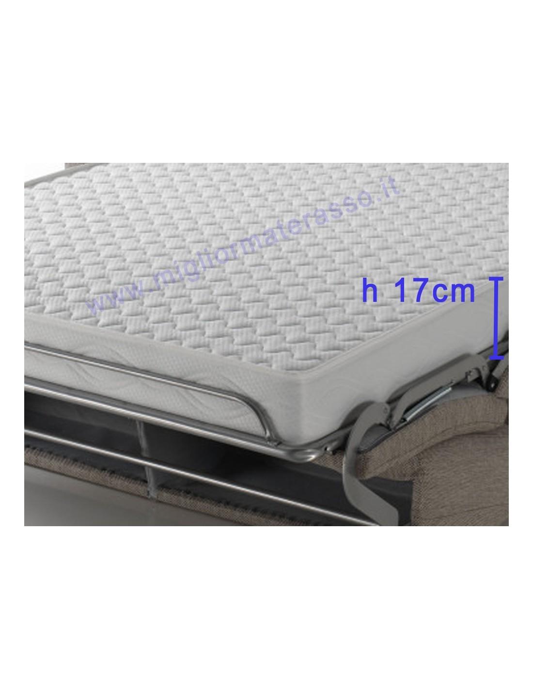 Materasso comodo alto 17 cm dentro un divano letto matrimoniale design for Divani letto con materasso alto