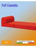 Puff cuboletto colorato