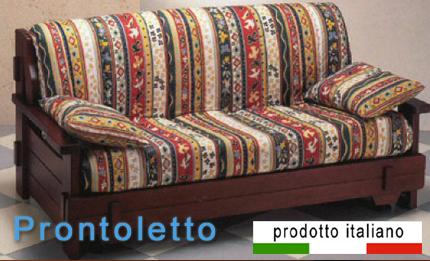Comodo divano letto prontoletto trasformabile matrimoniale o 140 francese miglior materasso - Materasso per poltrona letto ...