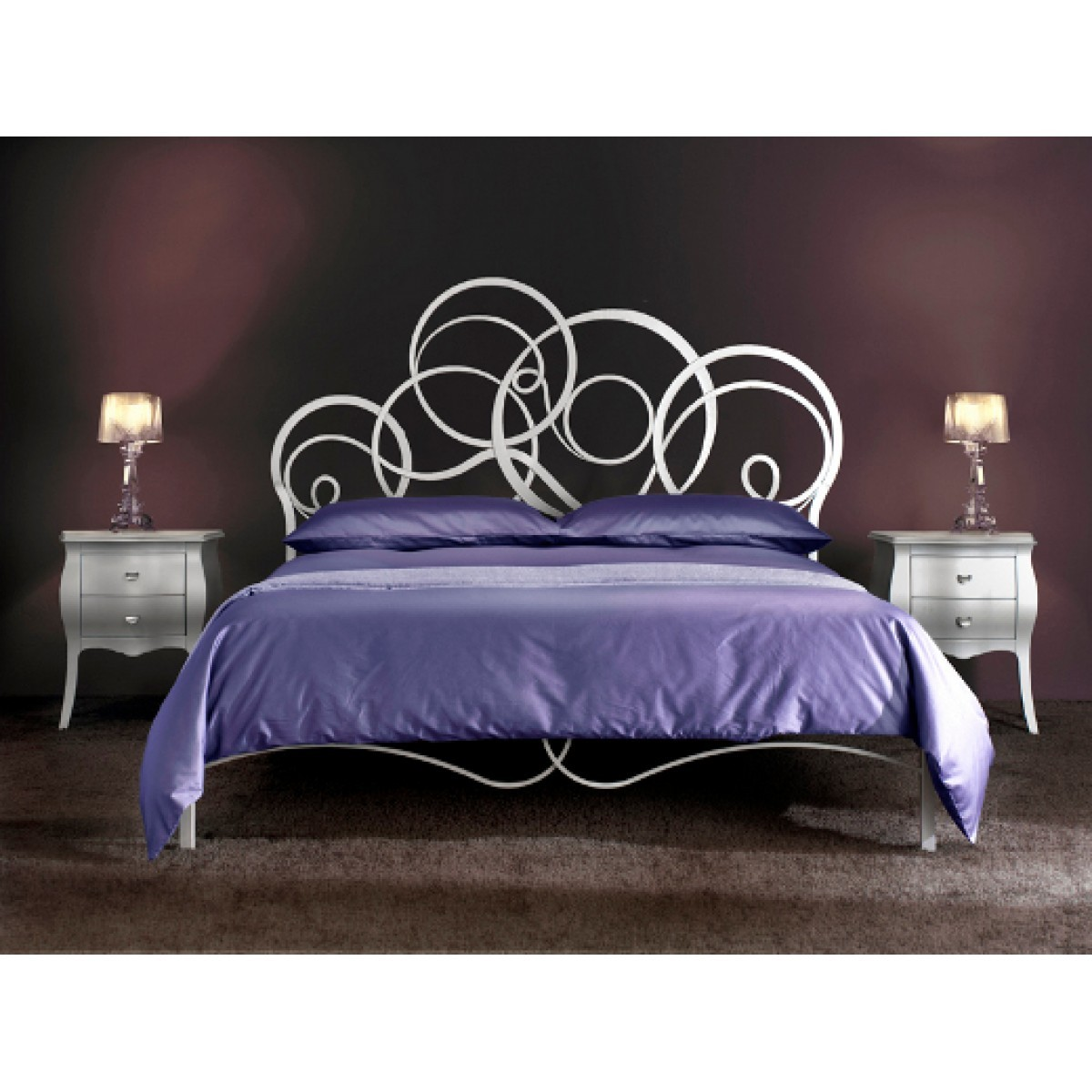 an italian beautiful bed iron bed Arabesco by Cosatto