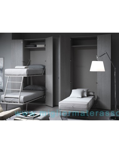 Letto a scomparsa in esposizione armadio letto mobile letto richiudibile - Letto a parete a scomparsa ...