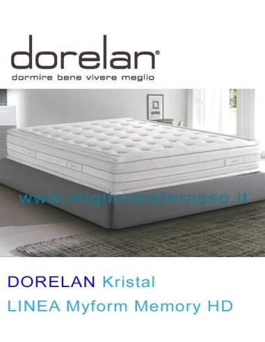 Materasso Memory HD Dorelan Kristal Comfort suite con top pillow