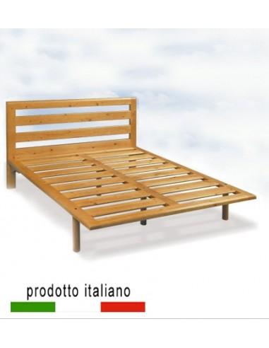 Rete in legno massello anche con testiera letto legno for Rete letto matrimoniale ikea