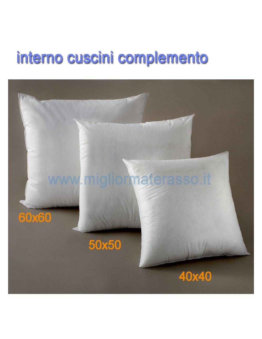 interno per cuscini d 39 arredo 40x40 50x50 60x60 cm varie misure