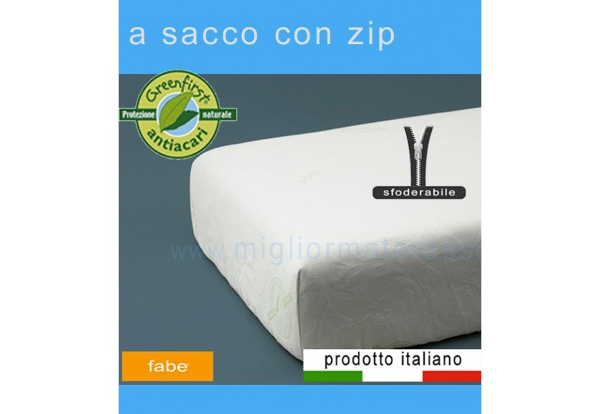 Coprimaterasso Antiacaro Greenfirst con zip