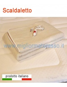 Scaldaletto matrimoniale elettrico 100% Lana