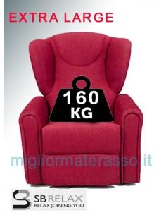 Poltrona pesi extra portata 160 Kg