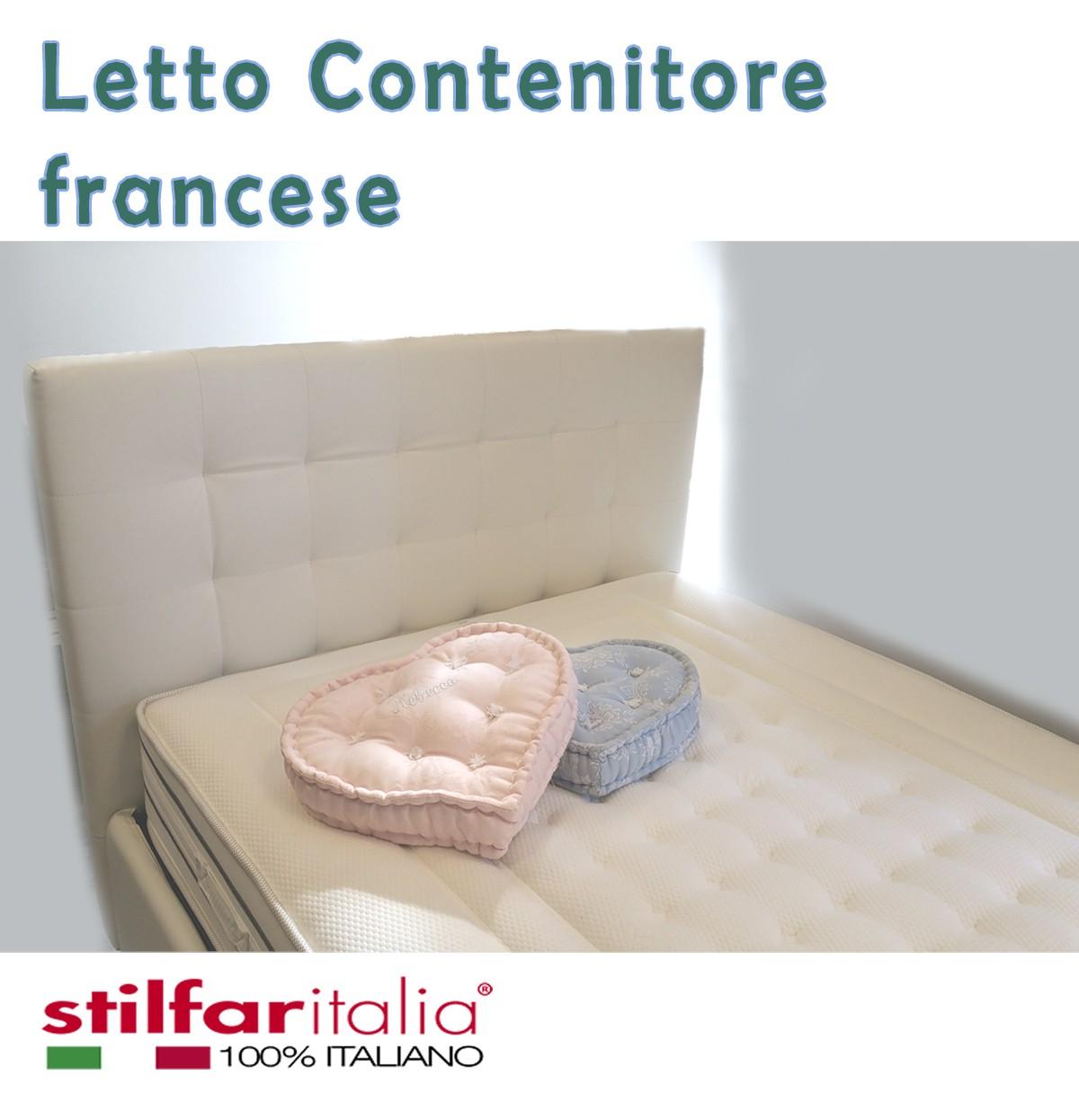Letto contenitore alla francese letti imbottiti alla - Letto alla francese con contenitore ...