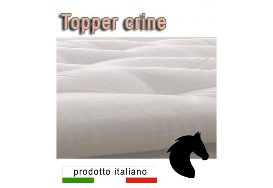 Topper naturale in crine di cavallo