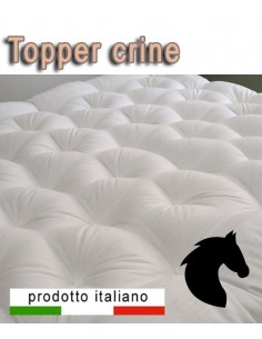 Topper naturale in crine di cavallo