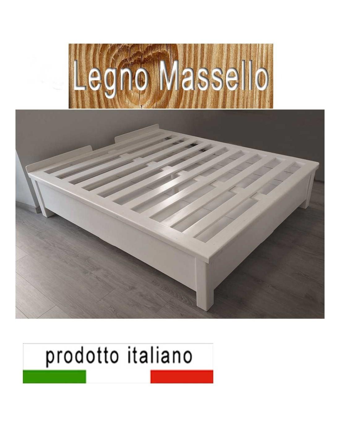 Letto cassettone contenitore in legno massello - Letto a cassettone ...