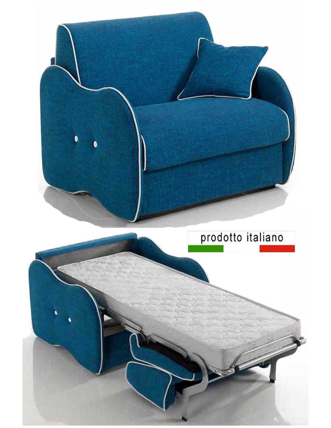 Poltroncina letto singola con materasso un posto incluso for Pronto letto mondo convenienza