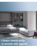 wall bed with sofa