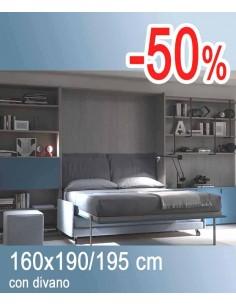 Letti a scomparsa con materasso interno alto mobile letto for Letto a scomparsa con divano