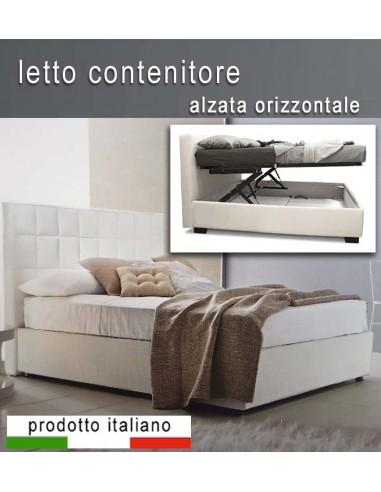 Letto A Cassone.Letto Contenitore Alzata Orizzontale