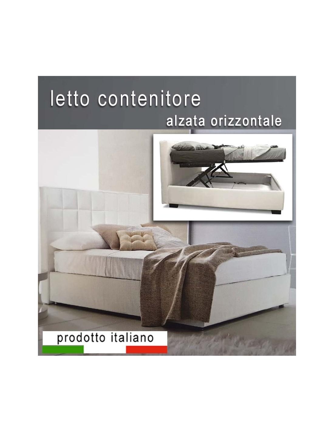 Letto contenitore ad alzata orizzontale doppia - Contenitore per letto ...