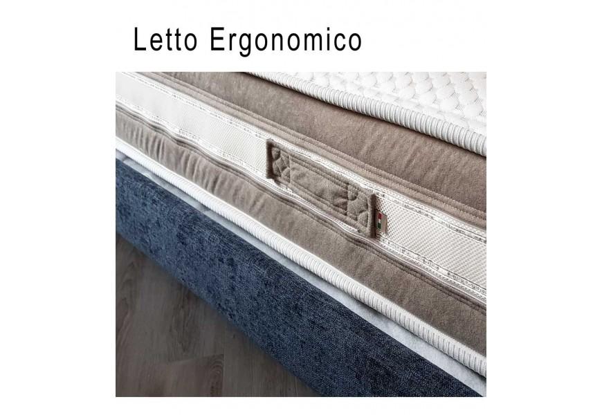 Leto in tessuto con reti ergonomiche