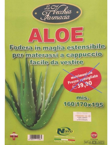 Coprimaterasso matrimoniale antiacaro Aloe