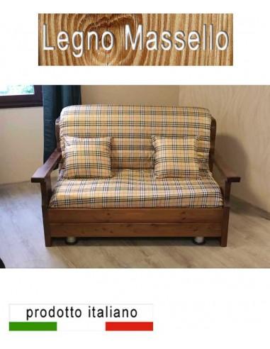 Prontoletto in legno massello