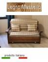 Prontoletto singolo in legno massello