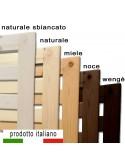 Rete in legno massello finiture