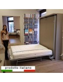 Rotating double bed wall