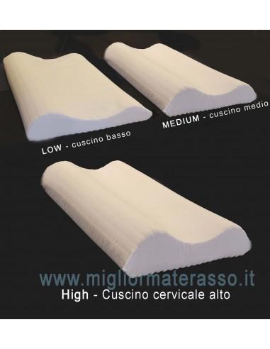 cuscino cervicale alto e basso