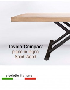 Solid wood extensible Table