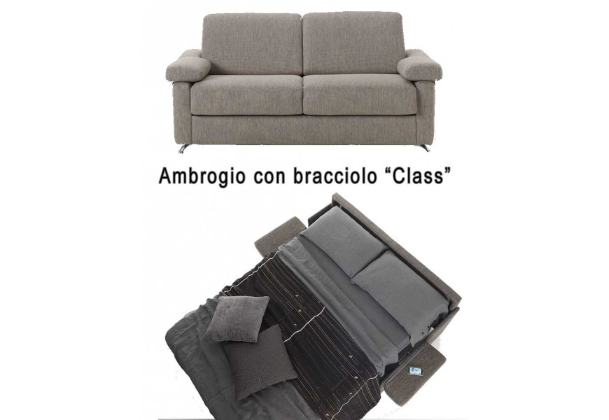 Divano Letto Ambrogio ecopelle