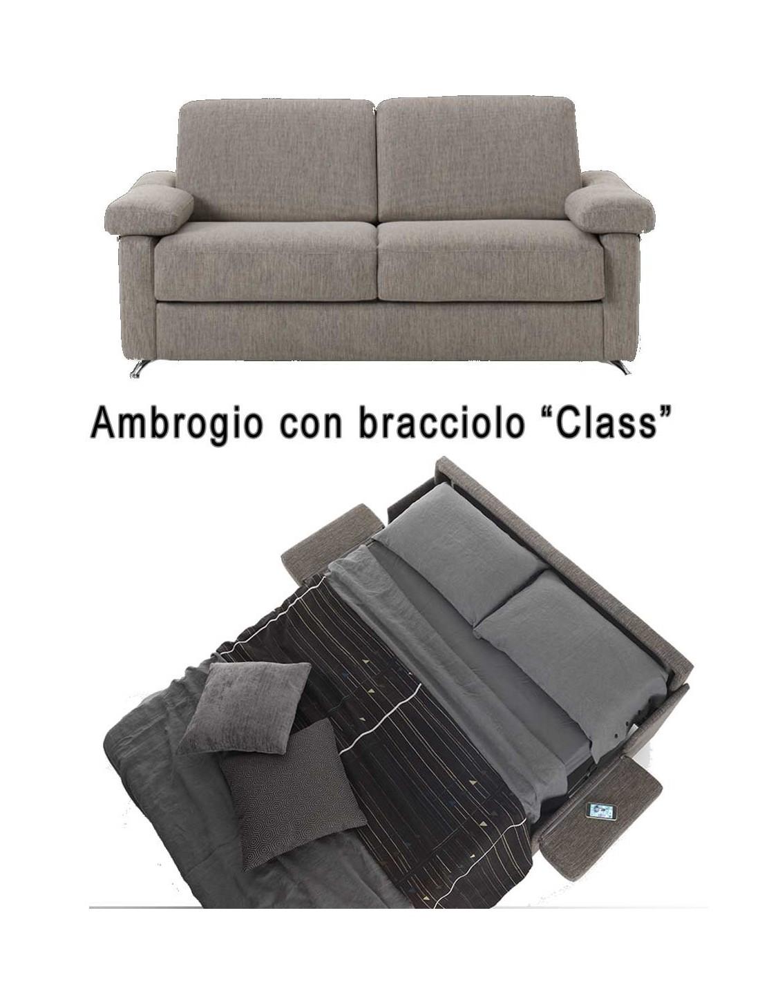 Divano Comodo Per Dormire divano letto in ecopelle con materasso alto 17 cm prezzo in offerta