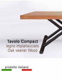 Tavolo Compact in legno impiallacciato