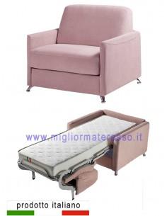 Poltrona letto materasso alto
