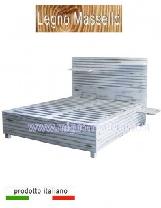 Wooden bed Shabby