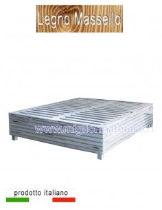 Wooden bed Shabby Sommier