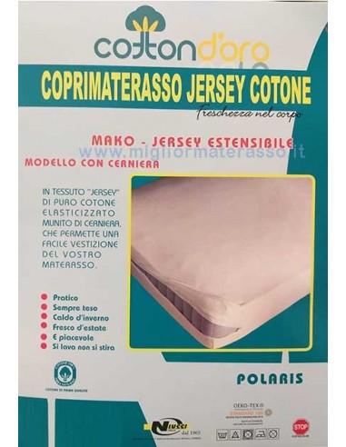 Coprimaterasso Singolo A Sacco Cotone Con Zip Misura 80x190 A 90x200 Cm