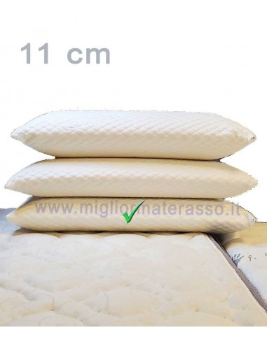 Cuscino Memory 11 cm massage antiacaro
