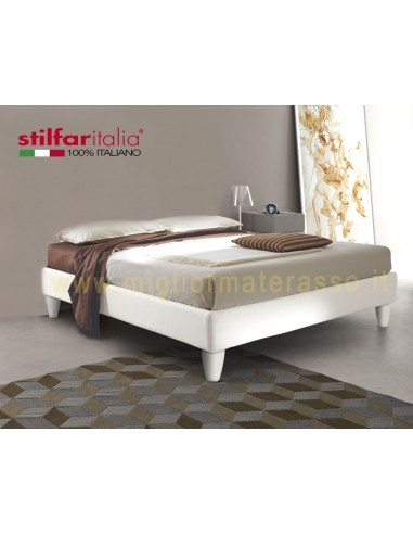 Sommier letto senza testiera design alto con giroletto for Cuscini testiera