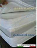 Tessuto sfoderabile e pannello amovibile