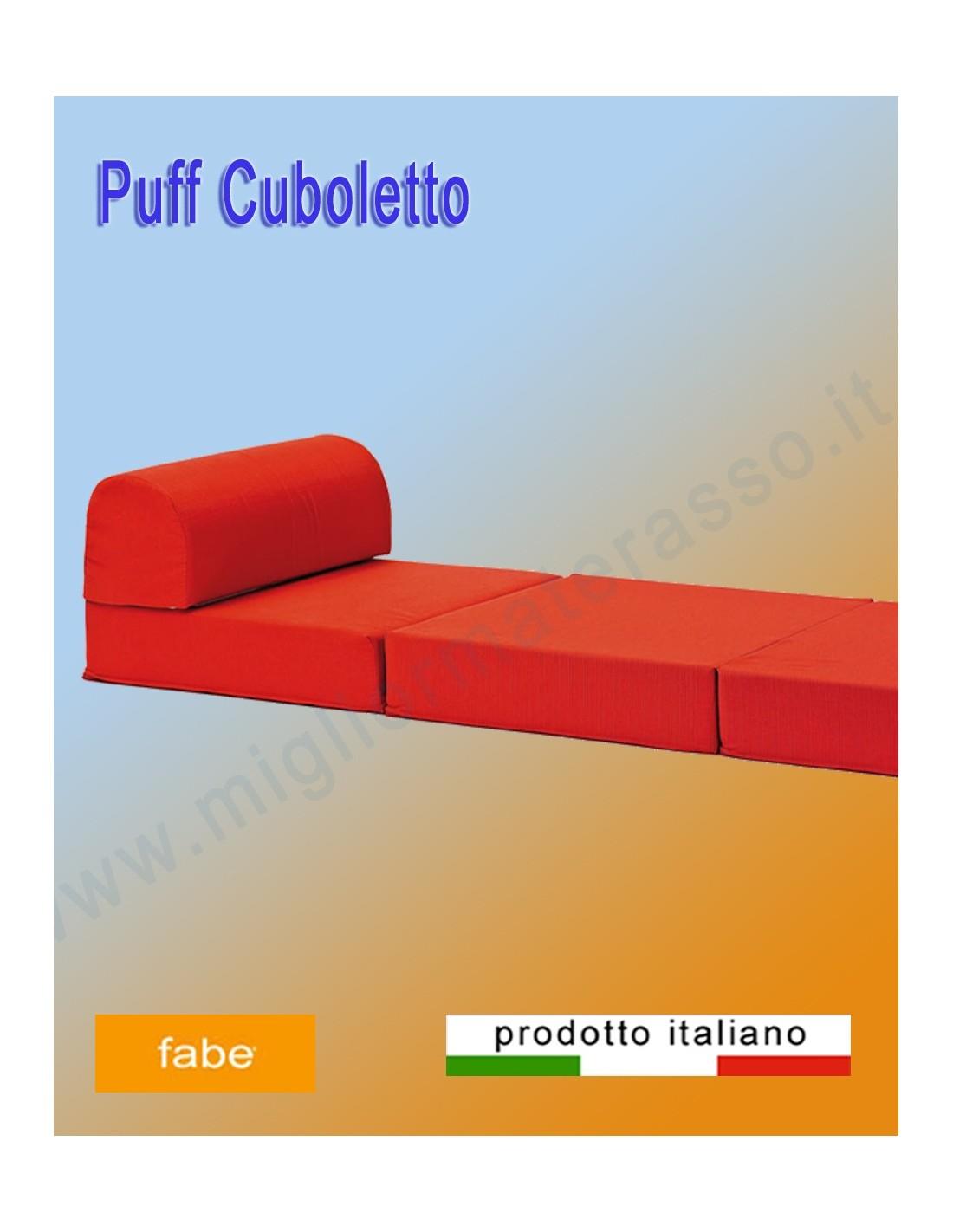 Un Puff senza rete o altri elementi in ferro un comodo materasso