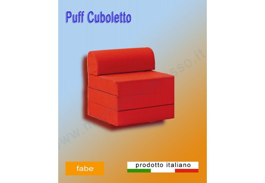 Pouf colored bed