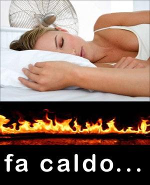 materasso troppo caldo
