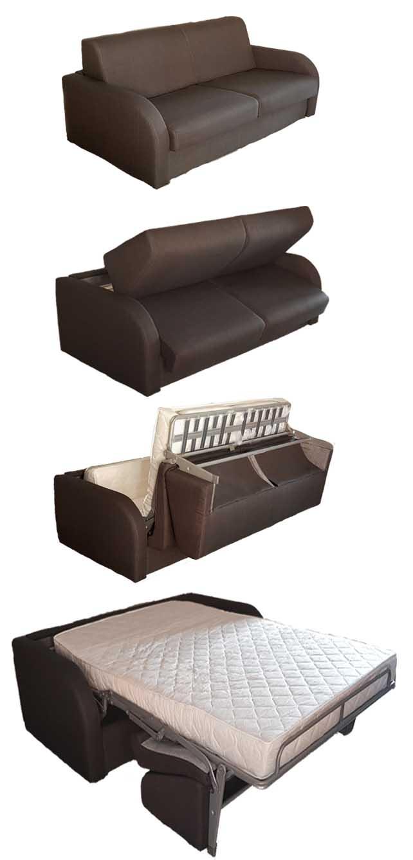 divanoletto con materasso comodo