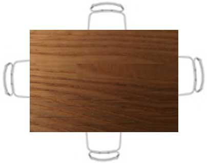 tavolo in legno pieno