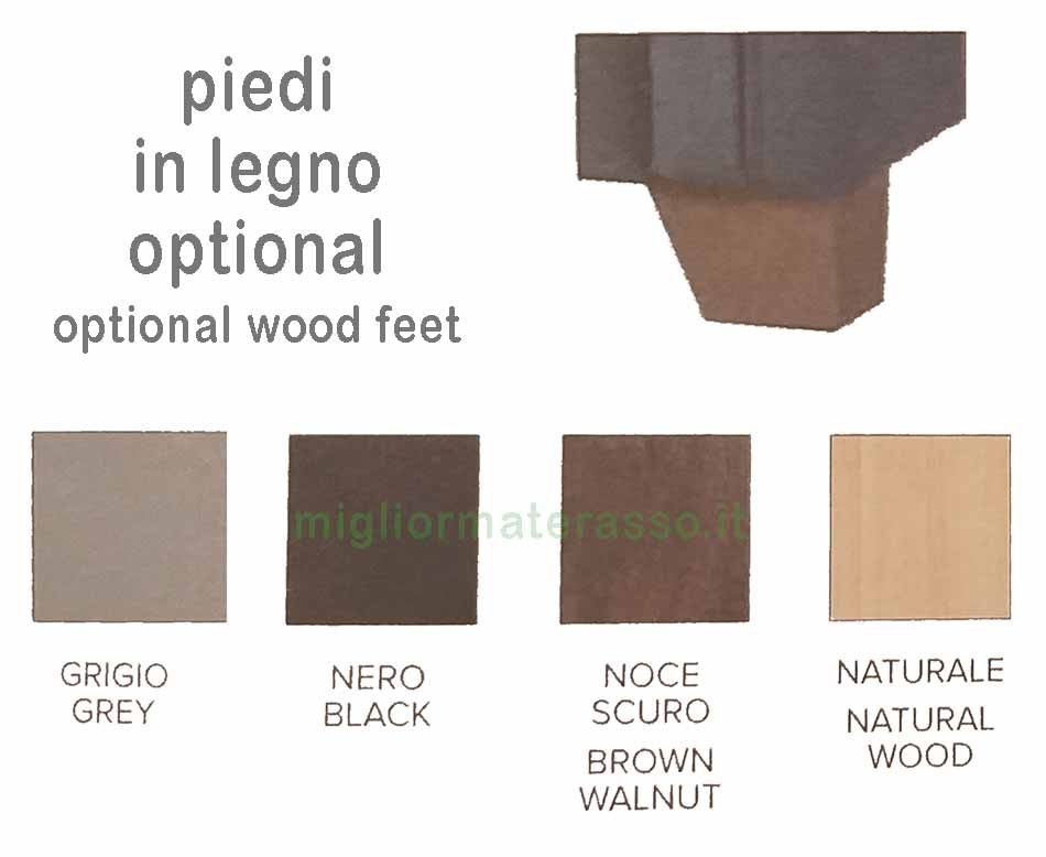 piedi in legno