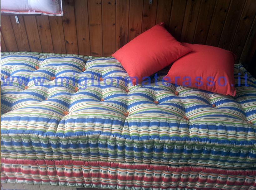 Materassi con fodera colorata a giorno uso divano artigianali su misura miglior materasso - Divano fatto con materassi ...